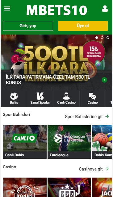 MBets10 Giriş Adresi - Bets10 Mobil