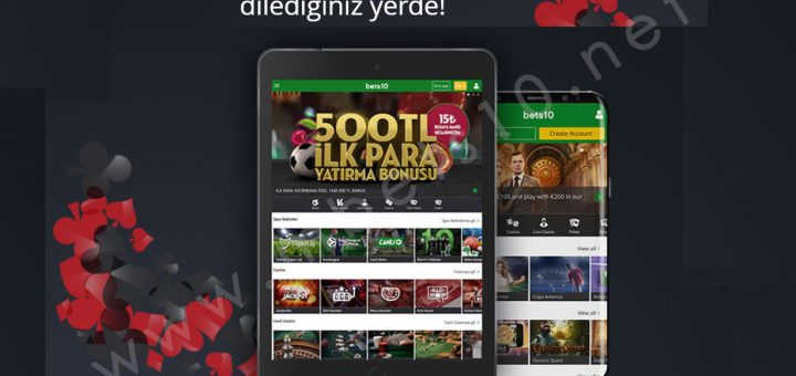 Bets10 Mobil Android ve Tablet Erişimi