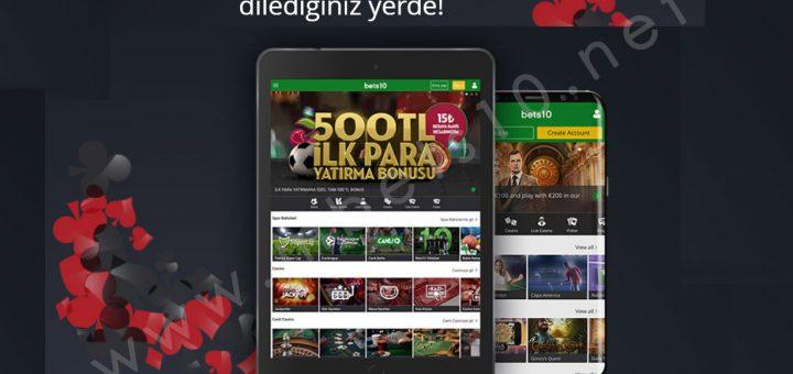 Bets10 Mobil Android ve Tablet Erişimi